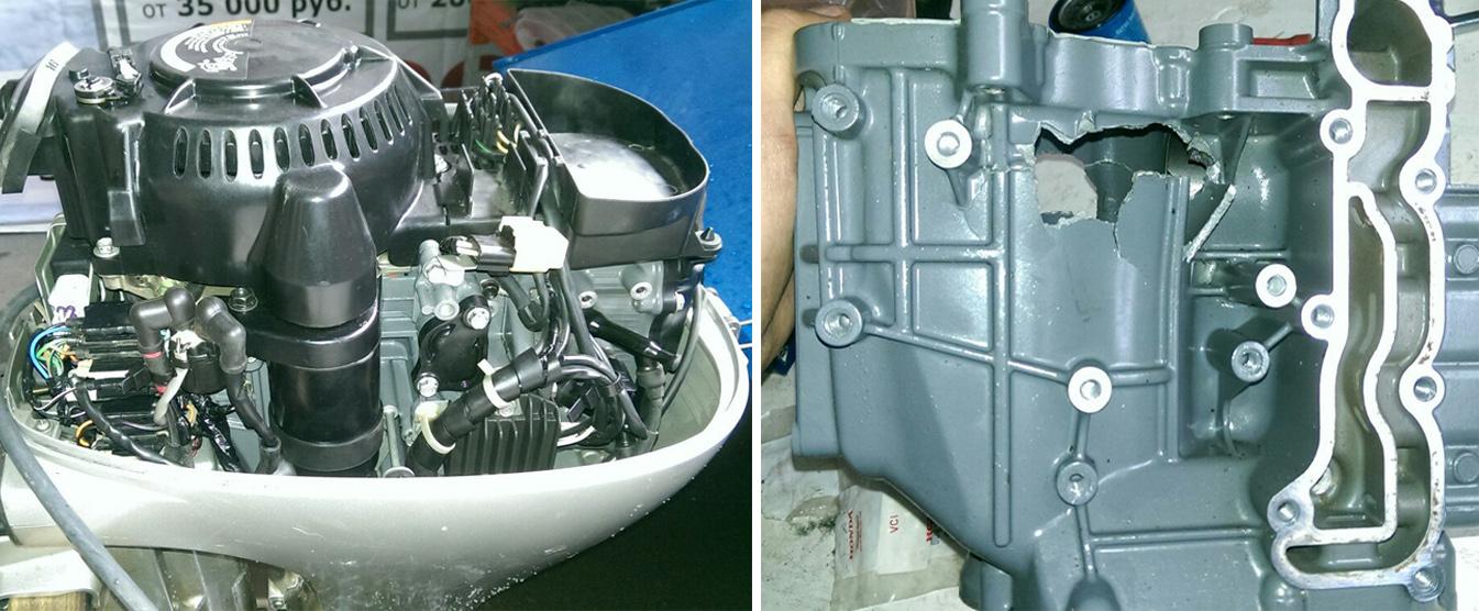 Ремонт лодочного мотора HONDA