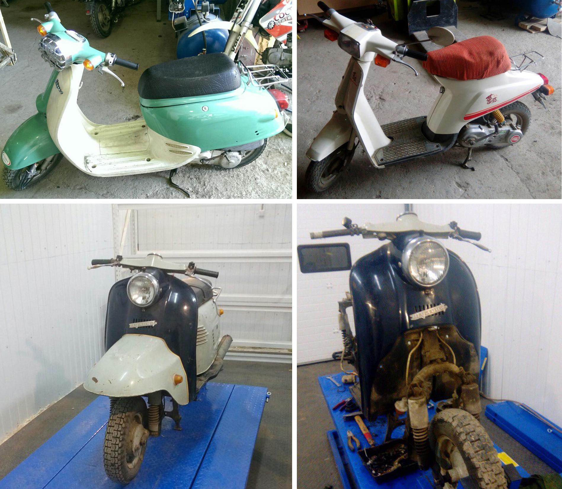 Ремонт и восстановление ретро-скутеров
