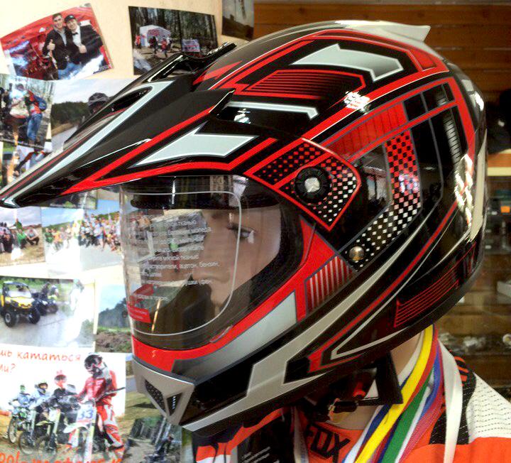 Кроссовый шлем с визором купить в Екатеринбурге в магазине COOL MOTORS