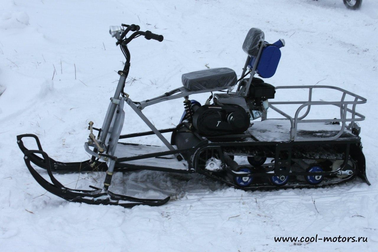 мотобуксировщик Мухтар-7 с лыжным модулем
